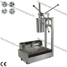 3-hole 4 Nozzles 5L Vertical Manual Spanish Donut Churro Maker Machine Fryer