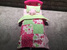 American Girl Doll Blossoms and Blooms Bed and Bedding Great Condition