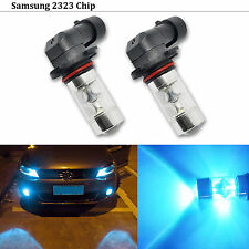 2 x Ice Blue H10 9145 High Power 60W Samsung 2323 LED Fog Driving Light Bulbs