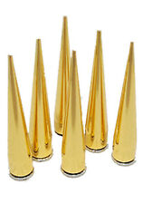 7*40mm Screwback Spikes Cone Studs Silver Golden Punk Rock leathercraft Rivet