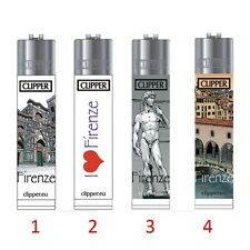 ★1 ACCENDINO CLIPPER GAS LARGE SOUVENIR FIRENZE RICARICABILE GRANDE VARI COLORI★