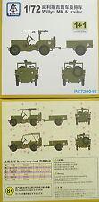 Willys MB mit Trailer , 1/72, S-Model ,Doppelpack, Plastik mit Ätzteilen, NEU,