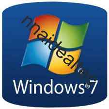 200 x Windows 7 Sticker Label Badge for Computer PC Desktop Laptops