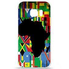 Coque Housse Etui Samsung Galaxy S6 Edge Plus en Silicone - Drap Afrique