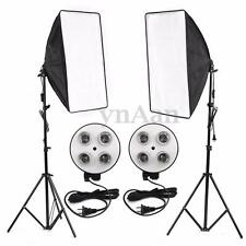 Photo Video Studio E27 4-Socket Lamp Softbox Light Stand Continuous Lighting Kit