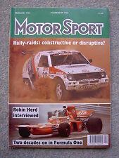 Motor Sport (Feb 1992) Ferrari Mondial, Allan McNish, Civic VTEC, Robin Herd