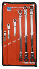 Welzh Werkzeug 817-WW  Extra Long Flexi Head Aviation 6pc Spanner Set 8mm - 19mm