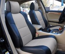 ACURA TL 2004-2008 BLACK/GREY LEATHER-LIKE CUSTOM MADE FIT FRONT SEAT COVER