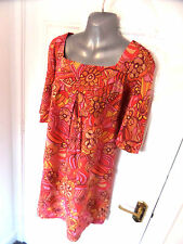 ❤ EVIE Gorgeous Ladies Size 16 Pink Orange Purple Mix Smock Tunic Dress