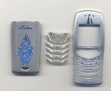 Front Back Cover Tastatur Nokia 6100 Gehäuse Schale Handyschale SILBER Tattoo