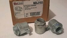 "BIZLINE BZL2193 3/4"" SQUEEZE CONNECTOR (LOT OF 24) NEW $19"