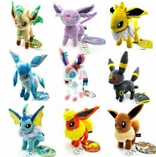 9pcs/Lot Pokemon plush toys Stand Eevee Sylveon Eeveelution Vaporeon dolls 8""