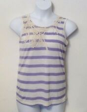 NEW Po Pori Embroidery Women's Sleeveless Shirt Tank Top POPORI Purple XXL/2XL