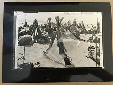 ww2 photo press U.S. Eighth Army troops relax on Subic bay beach 1945   A40