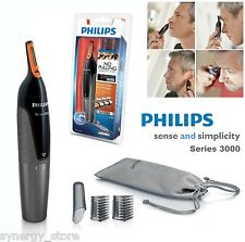 Philips ELECTRIC HAIR TRIMMER Mens Grooming Kit, Nose Ear Eyebrows Cordless NEW