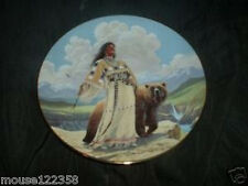 Hamiltion Plate  Girl with  Bear  Signed David Wright