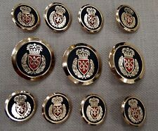 Crown Gold Blazer Buttons Set For Suit, Blazer, or Sport Coat - High Quality