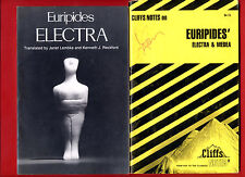 Electra  by Euripides & Cliff Notes study guide cliffs - Free Shipping!