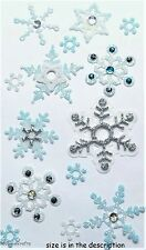 EK SUCCESS JOLEE'S 3-D GEMSTONE GLITTER STICKERS  - SNOWING CHRISTMAS SNOWFLAKES