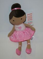 New Just One You by Carter's Plush Ballerina Toy Doll Brown Hair Tutu NWT Girl's