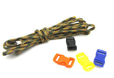 Outdoor Hiking Survival  Paracord Rope 7 Core Strand 2.4M + buckle Mixed GJ20