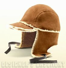 GUCCI cognac L Suede SHEARLING lined Trapper Russian USHANKA Hat NWT Authen $750