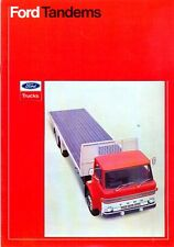 Ford D Series Tandems camiones 1973 mercado Inglés folleto de ventas