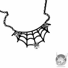Necklace Collier Curiology Spider Web Toile d'araignée Dark Gothic Gothique