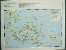 WW2 WWII MAP ~ JAPANESE INVASION OF THE EAST INDIES JAN-MAR 1942 PARATROOP