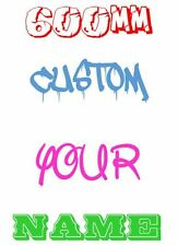 600mm wide CUSTOM Your Name Family Text Decal Stickers Car Window 4WD Wall JDM