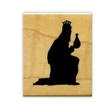 KING, magi, Christmas nativity mounted rubber stamp #13