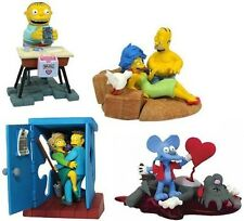 Set of 4 Simpsons Miniature Valentines Bust Ups figures