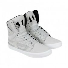 NEW SUPRA SKYTOP II LIGHT GREY WHITE SKATE SKATEBOARD HIP HOP SPORTS SHOES 14