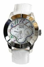 """NEW Womens Marc Ecko UNLTD Watch """"The Lucky"""" Crystal White Leather E11532L1 $115"""