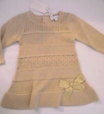 Baby Girls Knitted Spanish Romany Style Gold Dress by Zip Zap 3 months