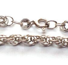 Impresionante 925 plata Serpiente Pulsera Cuerda torcida Vintage complejo bien Link 20cm