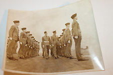 """Original WW2 Era Royal Canadian Air Force Inspection by Officer Photo 10"""" by 8"""""""