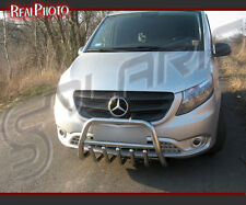MERCEDES VITO 2014+ BULL BAR,NUDGE BAR,A BAR + GRATIS!!! STAINLESS STEEL