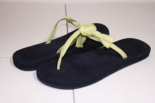 HOLLISTER 8 LIME YELLOW BOW STRAP FLIP FLOP THONGS SANDALS
