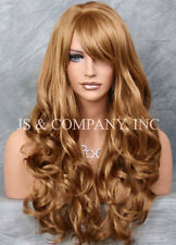 STRIKING! Long Wavy Curly w bangs Strawberry Blonde Layered Stunning Wig win 27