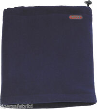 Delta Plus Panoply Chamonix Mens Winter Polar Fleece Neck Scarf Snood Navy Blue