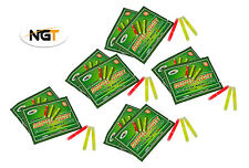 15 NGT (5 Packs of 3) Fishing Night Glow Sticks Chemical Lights 39mm x 4.5mm