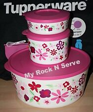 Tupperware Large Container  Twist, Stack & Store Seal Set 3 New
