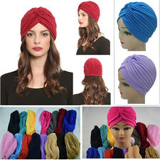 New Fashion Unisex Womens Turban Hat Hair Head Wrap Cap Slouch Stretchable Hot