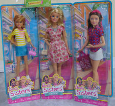 NEW Set (3) SKIPPER STACIE & BARBIE DOLL Sisters Fun Day Puppy Adventure Playset