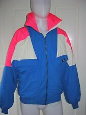 Vintage Sunice Colorblock Full Zip Up Winter Ski Snow Parka Jacket Mens M Neon