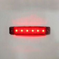 1x12v Led Red Rear Side Marker Light Truck Trailer Waterproof Transporter