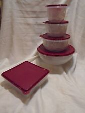 Tupperware 5-pc Holiday Prep Set Bowls Snack N Store Measuring Cups 4 8 12 26