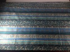 Wamautta New 60's Vintage 19.5' Fabric Vat Printed Teal Blue Gold Rare Find!