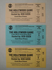 THE HOLLYWOOD GAME STARRING BOB GOEN 3 ORIGINAL AUDIENCE TICKETS ASST DATES CBS